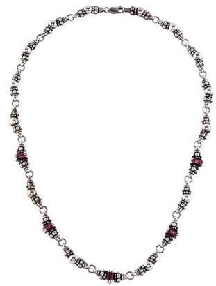 Lagos Tourmaline Caviar Collar Necklace