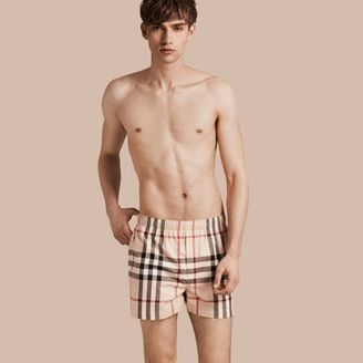 Burberry Check Twill Cotton Boxer Shorts $70 thestylecure.com