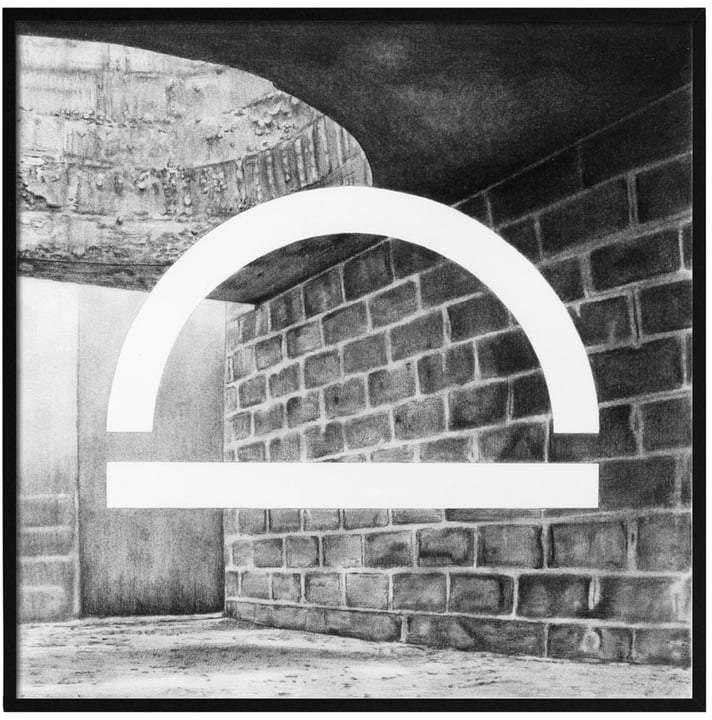by Lassen - Silhouette Poster, 29.7 x 29.7 cm, grau