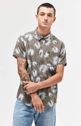 RVCA Palms Short Sleeve Button Up Camp Shirt