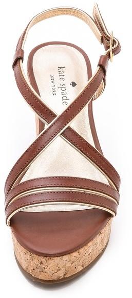 Kate Spade Tender Cork Wedge Sandals