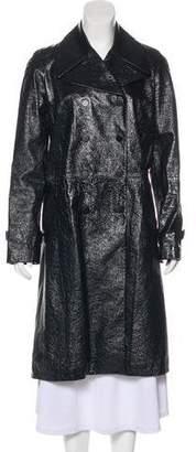 Tamara Mellon Notch-Lapel Leather Jacket