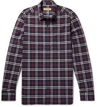 Burberry Checked Cotton-Poplin Shirt