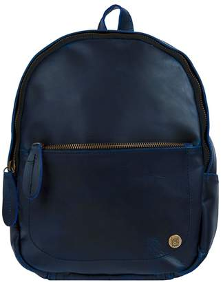 MAHI Leather - Mini Backpack In Navy Full Grain Leather
