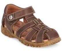 Boy's Leather Fisherman Sandals $92 thestylecure.com