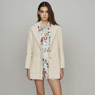 Maje Tweed-style coat