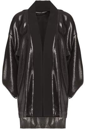 Roland Mouret Two-Tone Lamé And Jacquard Jacket