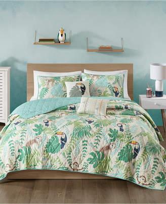 Urban Habitat Kids Tropical Tangle 5-Pc. Full/Queen Cotton Coverlet Set Bedding