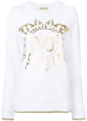 Versace metallic print jumper