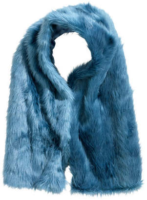 H&M Faux fur scarf - Blue