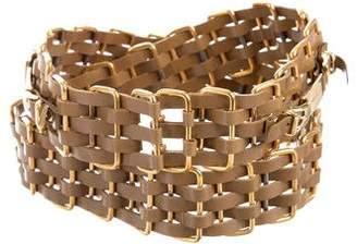 Chanel Woven Logo Belt