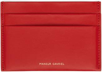 Mansur Gavriel Calf Credit Card Holder - Flamma