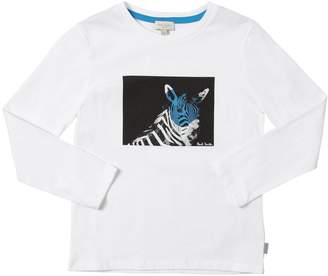 Paul Smith Zebra Print Cotton Jersey T-Shirt
