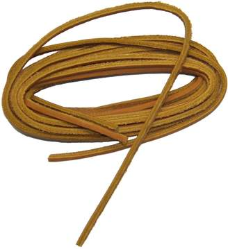 GREATLACES 1/8 inch square cut Leather Boat Shoe Replacement shoelaces leather laces (2 pair pack)