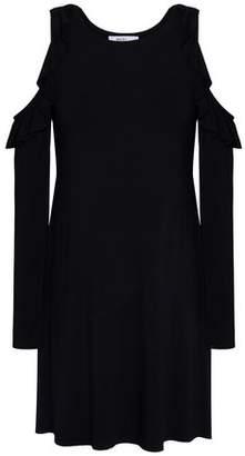 Bailey 44 Mirror Mirror Cold-Shoulder Stretch-Modal Jersey Mini Dress