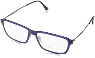 Ray-Ban Women's 0RX 7038 5451 Optical Frames, (Matte Dark Blue)