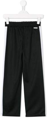 MSGM contrast piped tracksuit bottoms