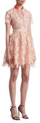 Maje Regina Lace Fit-&-Flare Dress