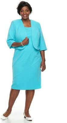 Plus Size Maya Brooke Dress & Jacket Set