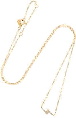 Ef Collection Diamond Lightning Bolt 14k Gold Necklace