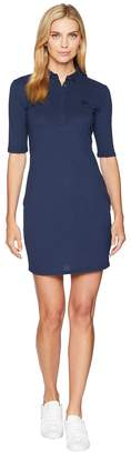 Lacoste 1/4 Sleeve Classic Stretch Mini Pique Polo Dress Women's Dress