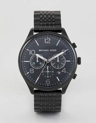 Michael Kors MK8640 Merrick Chronograph Bracelet Watch in Black