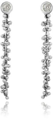 Orlando Orlandini White Gold Cascade Drop Earrings w/Diamond