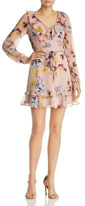 Band of Gypsies Shay Floral-Print Mini Dress