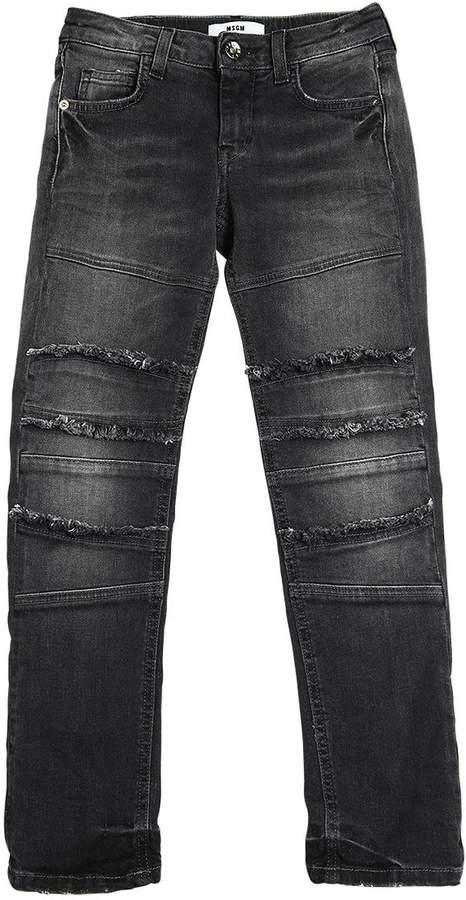 Jeans Aus Stretch-Denim Mit Fransendetails