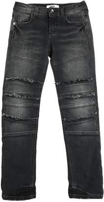 MSGM Stretch Denim Jeans W/ Frayed Details
