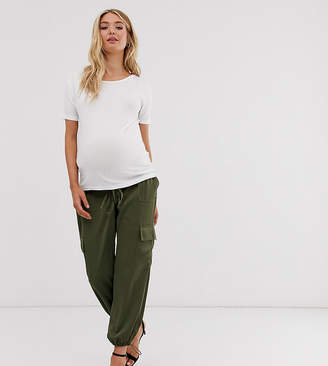 Asos DESIGN Maternity utility under the bump trousers with pocket detail