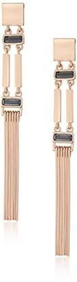 Vince Camuto Linear Bar Fringe Earrings