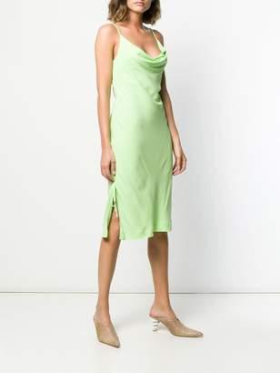 STAUD cowl neck slip dress