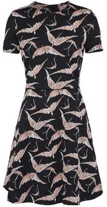 Valentino Flared Jacquard-Knit Mini Dress