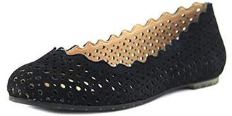 Me Too Womens Carlee Cut-Out Scallop Flats 9 Medium (B,M)
