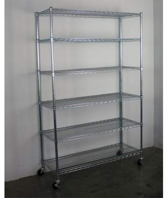 SafeRacks Wire Shelving Unit with Wheels SafeRacks