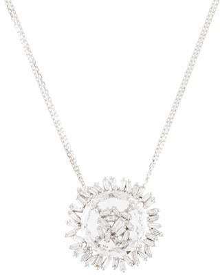 Suzanne Kalan 18K Topaz & Diamond Pendant Necklace