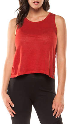 Dex Sleeveless Linen Crop Top