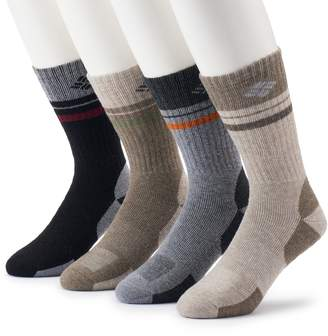 Columbia Men's 4-pack Wool-Blend Striped Crew Socks