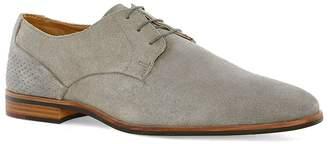 Topman Grey Suede Derby Shoes
