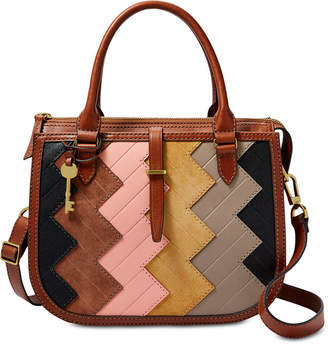 Fossil Ryder Patchwork Medium Leather Satchel