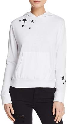Monrow Embroidered Star Hooded Sweatshirt