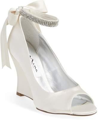 Nina 'Emma' Crystal Embellished Ankle Strap Pump