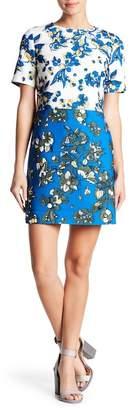 Ted Baker Colorblock Floral Shift Dress