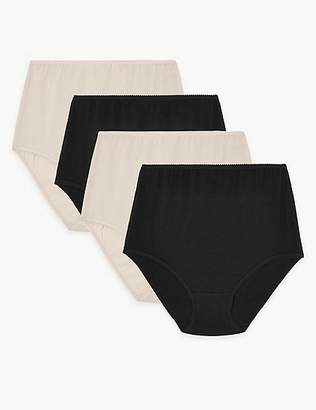 Marks and Spencer 4 Pack Pure Cotton Full Briefs