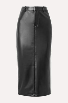 Alexander Wang Faux Stretch-leather Midi Skirt - Black