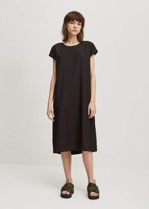 Y's Open Back Strap French Dress Black