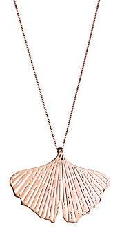 ginette_ny Women's Gingko 18K Rose Gold Cutout Pendant Necklace