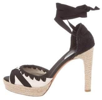 Castaner Canvas Lace-Up Sandals
