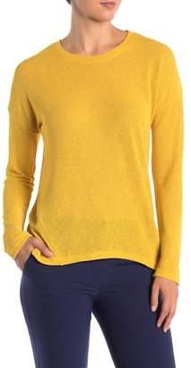 Catherine Malandrino Sheer Knit Hi-Lo Sweater